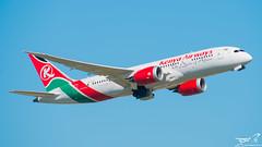 Boeing 787-800 Kenya Airways (rouerjb) Tags: airplane airport boeing spotting cdg lfpg kenyaairways dreamliner boeing787