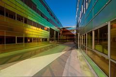 _DSC2233 (durr-architect) Tags: light sun colour reflection netherlands glass architecture modern facade offices almere dfense berkel unstudio
