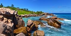 Seychelles landscape (WoeckPhotos) Tags: ocean sea mer landscape nikon waves indian granite seychelles nikkor 1870 d7000