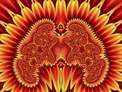 MRI Slices of a Gardner's Brain (CopperScaleDragon) Tags: brain sunflower fractal slices gardner mri jux