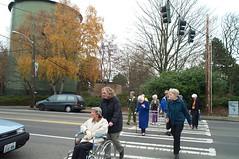 Crossing at a crosswalk 2000 (Seattle Department of Transportation) Tags: seattle wheelchair walker pedestrians crosswalk seniors transporation peds sdot