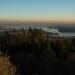 Vista de Vancouver e lá no fundo os EUA