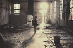 Black Swan (Pauline L photographe) Tags: old ballet art abandoned beauty dark photography decay urbandecay fineart fine sigma 50mm14 explore forgotten swanlake exploration industrie blackswan abandonned urbanexploring fineartphotography urbex fineartphotographer canon6d pointesshoes