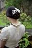 snowflake model. girl wearing kanzashi. (Bright Wish Kanzashi) Tags: snowflake flower art hair asian japanese pin handmade style ornament fabric ornate fiber technique tsumami kanzashi 雪花 雪片 つまみ細工 かんざし