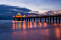 Manhattan Beach Pier (apogor71) Tags: sunset nikon top10 manhattanbeach 2016