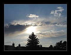Dramatic Twilght Sky (bigbrowneyez) Tags: trees sunset sky beautiful silhouette alberi clouds casa fantastic twilight dof rooftops dynamic dramatic stormy special cielo stunning dreamy fabulous striking tones onmystreet bello acrossthestreet bellissimo amazingsky amazingclouds tonality chiminies amosphere dramatictwilightsky everchangng