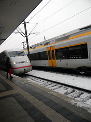 ICE train station bahnhof Bielefeld Germany 26th January 2014 snow  26-01-2014 15-07-09 (dennoir) Tags: snow ice station train germany january bahnhof bielefeld 26th 2014 150709 26012014
