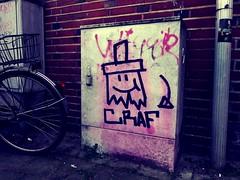 CRAF (Markus Rdder (ZoomLab)) Tags: street pink streetart art graffiti sticker ms graffito muenster mnster kreuzviertel craf