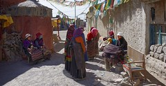Curiously the elderly listen to the story teller, Tibet 2015 (reurinkjan) Tags: tar streetview 2015 paryang tibetautonomousregion tsang  tibetanplateaubtogang tibet tibetannationalitytibetansbodrigs drongpacounty tibetancustomtraditionbodlugs tibetannationtibetanpeoplebkyimigy womankyemen bm janreurink  baryangvillage baryang baryangoldtown storytellersdrung storytellerdrungshepa storydrungsh