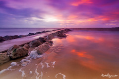 Sunrise at Sandbanks (mpelleymounter) Tags: longexposure beach sunrise dorset sandbanks beachsunrise sandbanksbeach sunandsea leefilters leegradnd dorsetlandscapes markpelleymounter dorsetseascapes