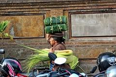 The Offerings Maker (DaveFlker) Tags: bali market ubud offerings