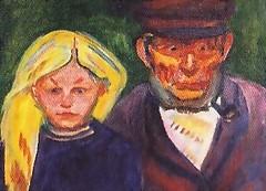 Old fisherman and his daughter 1902, Edvard Munch (JANKUIT) Tags: old selfportrait schilder museum fisherman daughter vincent edvard gogh munch zelfportret vangogh vangoghmuseum verbinding gelijkheid