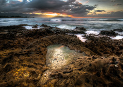 North Shore Sunset (ADW44) Tags: sunset beach clouds hawaii rocks oahu wideangle bluehour gitzo rrs 1635f28 canon5dmarkiii