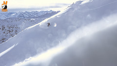 Hansn @ #ColdCreek (Snow Front) Tags: winter sun snow mountains clouds snowboarding cloudy sunny powder snowboarder freeride powpow deeppow loadedsnow
