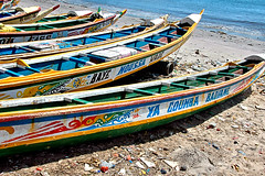 Pirogues (EmperorNorton47) Tags: africa autumn sea fall beach digital boats boat photo afternoon outdoor vehicle senegal dakar fishingboats pirogues