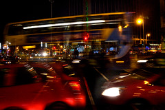 Combustion (Owen J Fitzpatrick) Tags: auto lighting street city ireland shadow red people dublin man motion black bus green window public lines car tarmac silhouette yellow electric night speed buildings reflections dark heineken photography lights j evening dangerous movement nikon automobile republic shadows darkness bright action streetlamp pavement live transport joe artificial headlights eire busy reflect nighttime transportation nightlight use only electricity pedestrians editorial vehicle nightlife owen tamron oconnell chasing glazing fitzpatrick blackness combustion thoroughfare ojf d3100 ojfitzpatrick