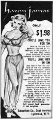 Harem Jamas (Tom Simpson) Tags: vintage advertising nipples boobs ad dancer lingerie advertisement 1970 1970s harem pinup vintagead slavegirl
