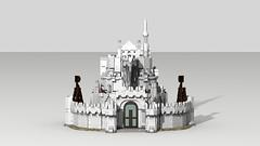 Minas Tirith 22 (Anduin1710) Tags: city white men king minas lego return tolkien middleearth jrr tirith the thelordoftherings ldd gondor digitaldesigner