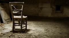 Back to the Past - Retour vers le passé (Jean-Luc Peluchon) Tags: old light abandoned chair lumière decay forgotten chaise decayed vieux sépia abandonné greatphotographers 1000faves