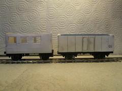 SRT CG and Brake Van in progress. (Barang Shkoot) Tags: scale car wagon cg model asia railway s goods covered thai 164 brake chassis ho van oo scratch gauge built metre styrene