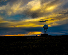 Doppler Radar Station at Sunset (Matt Barlow Photography) Tags: sunset weather technology nighttime sphere noaa pingree dopplerradar