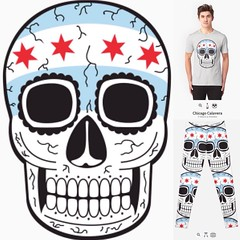 My #design Chicago Calavera @ RedBubble. http://rdbl.co/1Hwu4XC Get ya some swag! #swag #graphic #illustration #fashion #tshirt #apparel (epinfanzon) Tags: chicago art square skull design graphic illustrations tshirt squareformat apparel calavera tees adobeillustrator iphoneography instagramapp