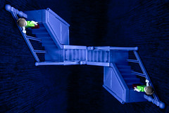 Escheresque.  34-366. (FadeToBlackLP) Tags: longexposure lightpainting stairs canon lego pov optical tokina illusion shaggy escher icm lightart camerarotation intentionalcameramovement camerarotationphotography ledlenserp72