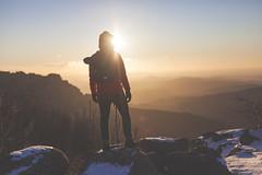 _6386 (Capelle.R) Tags: morning sky snow france mountains cold nature sunrise trek canon landscape 50mm alone wind hiking flare neige cevennes 2016 lozere randonnee 5dm2 capelleromain