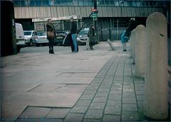 `1589 (roll the dice) Tags: uk family portrait england people urban london art classic broken hat train graffiti kid pretty sad traffic natural boots eurostar candid strangers streetphotography dirty waterloo unknown rough mad southwark unaware se1 avis bollards merc londonist