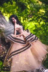 Fairy (astramaore) Tags: vanessa green nature beauty fashion toy glamour doll dress outdoor explorer 16 chic brunette gown royalty
