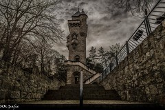 high above (MMGrafix) Tags: old tower castle stairs cloudy forgotten mystic