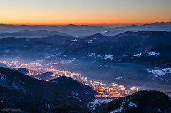 The town of Smolyan (Ivaylo Madzharov - Pictures from Bulgaria) Tags: winter mountain snow sunrise landscape town village bulgaria rhodope