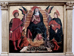 IMG_3612J Andrea del Castagno .1421-1457. Florence. Assumption with Saint Julien and Saint Minias. 1450. Berlin Gemldegalerie. (jean louis mazieres) Tags: italy museum painting italia muse museo italie peintures peintres andreadelcastagno