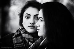 Sisters (PIXXELGAMES - Robert Krenker) Tags: vienna wien portrait blackandwhite monochrome sisters dark nice innocent teens teen fujifilm blacknwhite portret ritratto fujinon petite younggirls doubleportrait