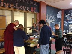 2016 Losar celebration at Albany KTC. Celebration started with recitation of the 12 Deeds of the Buddha and Short Green Tara. We ended with a delicious vegetarian pot luck dinner. May the new year bring happiness and peace to all sentient beings 🙏