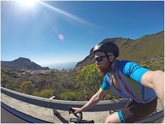 16 (Gumundur Rbert) Tags: red sea sun mountain mountains water training island cycling climb climbing cube tenerife shimano bjartur sram zipp tene c68 gopro litening