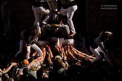 Castells - Human Towers (Jobopa) Tags: barcelona winter festival spain fiesta traditions catalonia tradition castellers catalan castell humantowers 2016 castells humantower santaeulalia collacastellera
