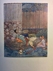 "Edmund Dulac, "" Supposing me asleep, they began to talk ""."