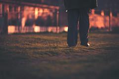 Evening Walk (Gure Elia) Tags: sunset walking atardecer back dof bokeh walk oldman paseo pamplona offset pdc navarra andar seor irua warmtones canoneos5d