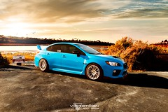 2015 Hyper Blue Subaru WRX STI Varrstoen MK8 (kenny_varrstoen) Tags: blue sunset cars beach nature car photography dusk dunes wheels newport subaru hyper rims wrx sti mk8 varrstoen varrstoenwheels