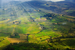 Flying over Tuscany (Arutemu) Tags: italy airplane landscape florence europe european view aircraft air eu tuscany firenze toscana airborne  airtravel