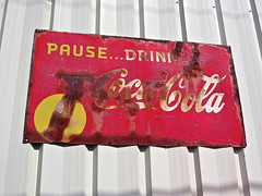 Coca-Cola, Duncannon, PA (Robby Virus) Tags: sign metal soft drink pennsylvania rusty coke signage cocacola pause duncannon