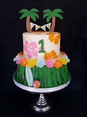 Hawaiian Luau Birthday Cake (Skye's Delights) Tags: cake luau hawaiian