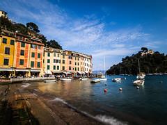 Portofino 01 (arsamie) Tags: house colour water port boat long exposure riviera italia sailing harbour liguria hill portofino