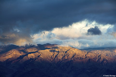 Panamint Sunrise (isaac.borrego) Tags: california morning light sky mountains clouds sunrise nationalpark shadows deathvalley peaks dantesview panamintrange canonrebelt4i