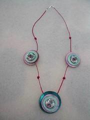 Boutons (fabrikarine) Tags: fleur vintage collier bijoux plastic boucle fou bouton cuivre doreille