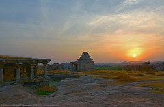 FEEL THE RHYTHM OF SOLITUDE (GOPAN G. NAIR [ GOPS Photography ]) Tags: sunset tourism photography karnataka hampi gops gopan hemakuta gopsorg gopangnair gopsphotography