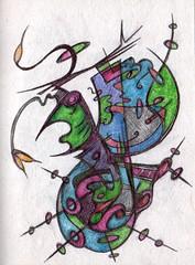 Celestial Galleon (darksaga66) Tags: sailing ship doodle penandink galleon inkart bookofink