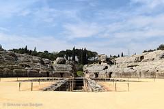 Amphitheatre (simonevanbergen) Tags: tree architecture garden spring spain ruins roman mosaic seville structure italica svb romanemperor simonevanbergen