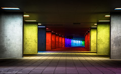 Rotterdam@Night (Paul van Agthoven) Tags: canon rotterdam nacht nederland sigma tunnel explore 1770 donker lange kleuren sluitertijd lichttunnel inexplore